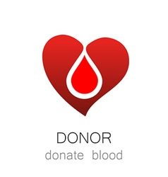 Donor donate blood vector