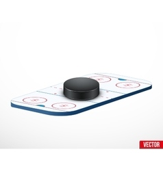 Symbol of a hockey puck and ice arena vector
