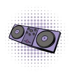 Musical modern instrument mixing console icon vector