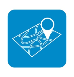 Pointer on map icon vector