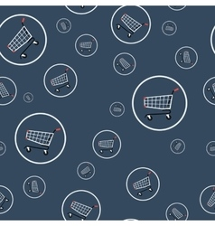 Seamless pattern - shopping cart vector
