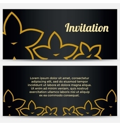 Abstract Invitation with flowers vector image