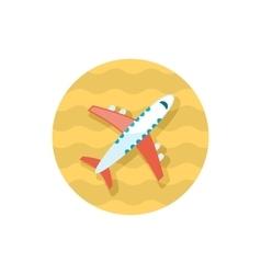 Aircraft icon Travel Summer Vacation vector image