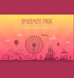 Amusement park - modern with vector