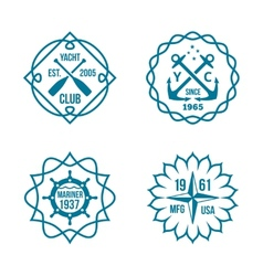 Assorted Hipster Logos on White Background vector image vector image