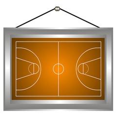 Basketball platform in a frame vector image