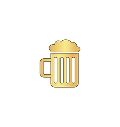 Beer computer symbol vector image
