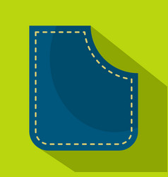 Blue pocket icon flat style vector