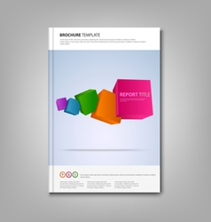 Brochures book or flyer with colorful abstract vector