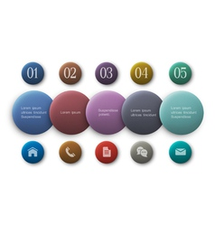 Buttons options infographics and web design vector image vector image
