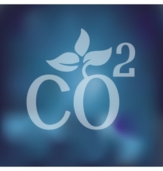Co2 sign dioxide icon on blurred background vector