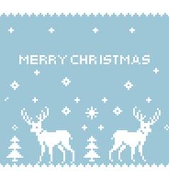 Deer Pixel Art vector image vector image