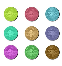disco ball buttons vector image