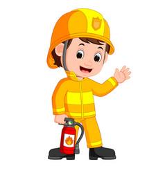 Firefighter cartoon vector