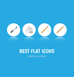 Flat icon equipment set of drawing tool letter vector
