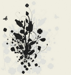 floral design with shadow vector image