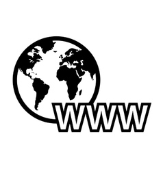 global internet symbol vector image