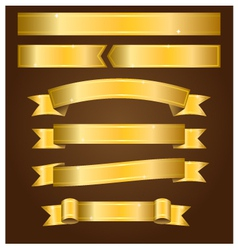Gold banners vector