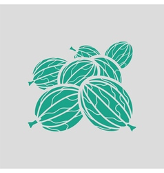 Gooseberry icon vector