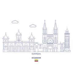 Guayaquil city skyline vector