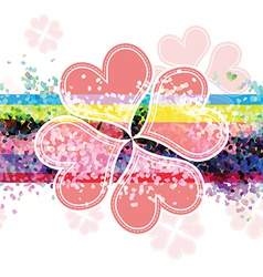 heart flower banner design vector image