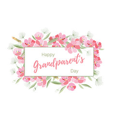 Holiday greetings grandparents day vector