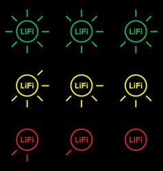 LiFi Icon set 1 vector image
