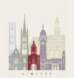 Limoges skyline poster vector