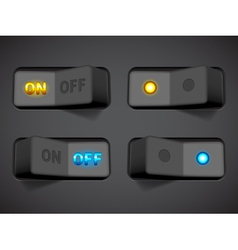 On and Off switches vector image vector image