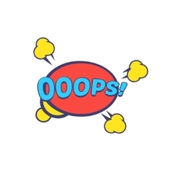 Ooops comic speech bubble vector