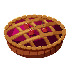 Pie icon cartoon style vector