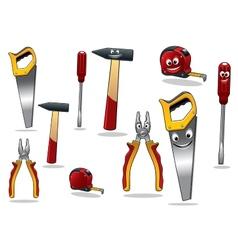 Set of DIY cartoon tools vector image vector image