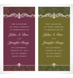 tall ornate frames vector image vector image