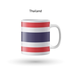 Thailand flag souvenir mug on white background vector