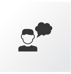 Thinker icon symbol premium quality isolated vector