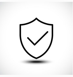 Tick shield security icon vector