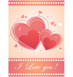 valentines background vector image vector image