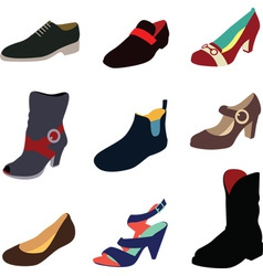 Various shoes collection vector image vector image