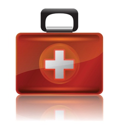 Red first aid case vector