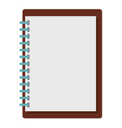 Sketchbook icon isolated vector