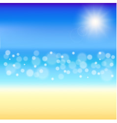 Beautiful summer background beach with shiny vector
