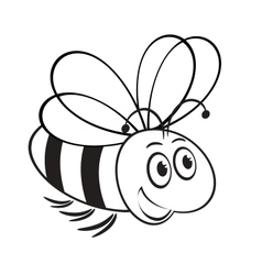 Monochrome of cute bee vector
