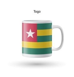 Togo flag souvenir mug on white background vector