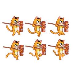 Cannibal Cat Running Sprite vector image