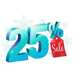 Winter sale 25 percent off vector