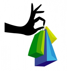 Shopping hand vector
