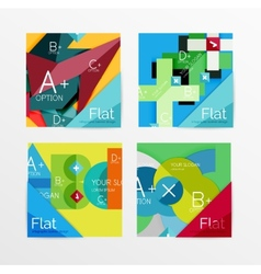 Flat design square shape infographic banner vector image
