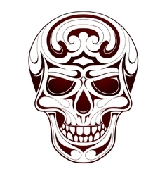 Skull head tattoo vector