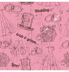 Vintage wedding seamless texture vector