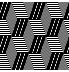 Seamless geometric op art pattern vector